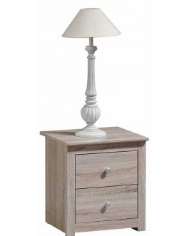 SIDE TABLE MH5034 2-DRAWERS 43X40X47CM