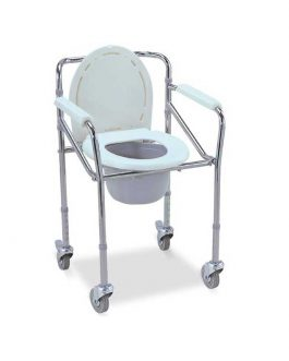 COMMODE CHAIR W/WHEELS LC696
