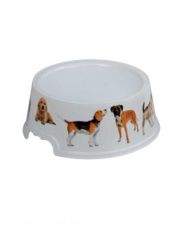 PET FOOD/WATER BOWL 0.4L W/PICTURES