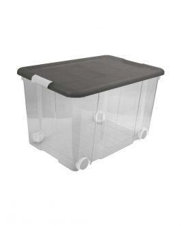 BOX ECOFRIENDLY WIH CLIPS AND WHEELS 55L