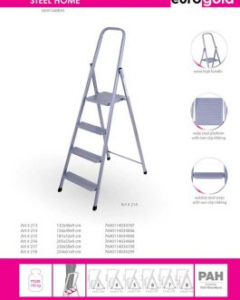 EUROGOLD STEEL LADDER 6-STEPS STEEL HOME