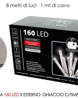 160 LED LIGHTS EXT. ICE B/O W/TIMER