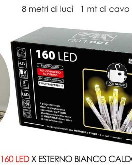 160 LED LIGHTS EXT. WARM B/O
