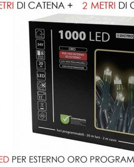 1000 LED LIGHTS EXT. GOLD PROG
