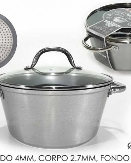 CASSEROLE W/LID TITANIUM INDUCTION 28CM