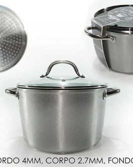 CASSEROLE W/LID TITANIUM INDUCTION 24CM