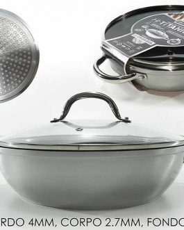PAN W/LID TITANIUM INDUCTION 28CM