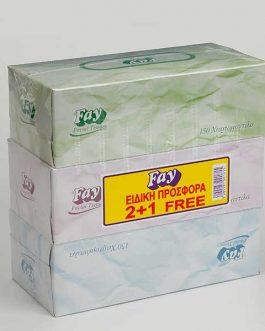 FAY TISSUE 2+1 FREE 2PLY 150SHHETS