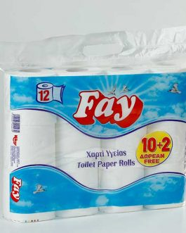FAY TOILET PAPER 10+2 FREE 2PLY 26M