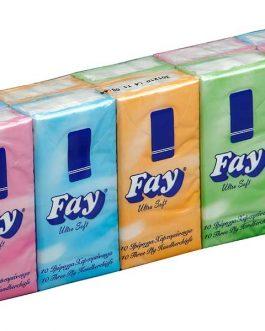FAY POCKET HANDKERCHIEFS X10