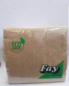 FAY NAPKINS ECO IPLY  33CM X100