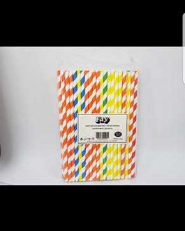 FAY STRAWS PAPER COLOURED X100