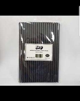FAY STRAWS PAPER BLACK X100