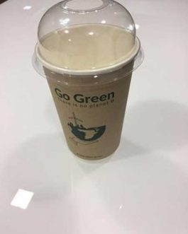 GO GREEN DOUBLE WALL CUP 16OZ&LID X10